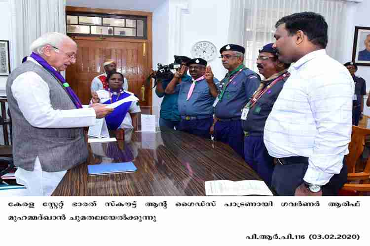 Governor takes charge as patron of the State Bharat Scouts and Guides